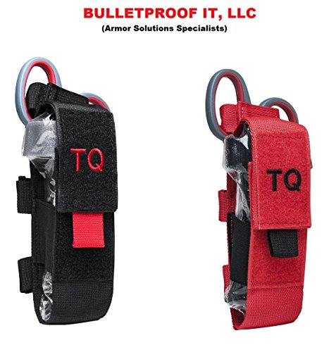 Kit Shooters (Molle Tourniquet and Trauma Shear Kit (Red w/ Black))