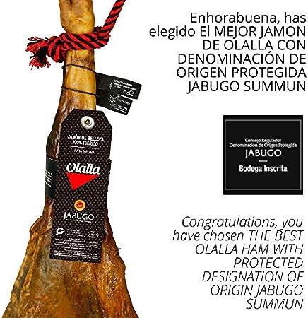 Jamon Iberico de Bellota 100% Iberico DOP Jabugo Summun - 5 Sobres Loncheados de 100 gr de Jamon de Jabugo Pata Negra Cortado a mano y Envasados al Vacio - Embutidos y Regalos Ibericos Gourmet 500 gr
