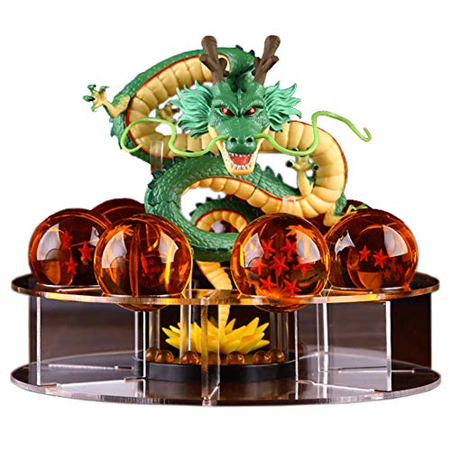 Acrylic Dragon Ball Set Z Shenron Action Figure Statue with 7pcs 3.5cm balls and stand (Statue Figure Set)
