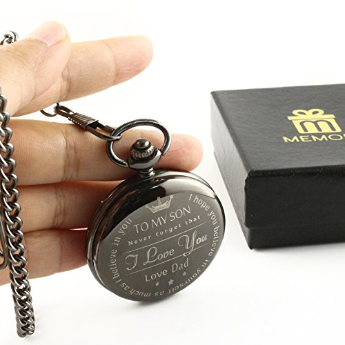 """"""" To My Son - Love Dad """" Gift To Son From Father birthday gift pocket watch Great gift for Son"""
