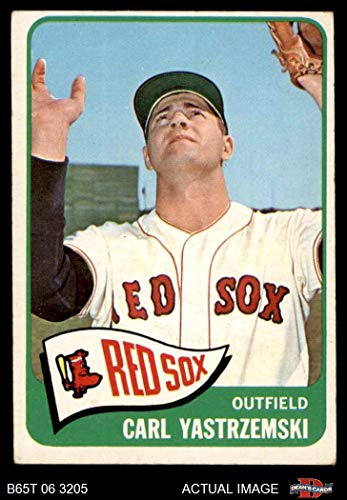 1965 Topps # 385 Carl Yastrzemski Boston Red Sox (Baseball Card) Dean's Cards 4 - VG/EX Red Sox