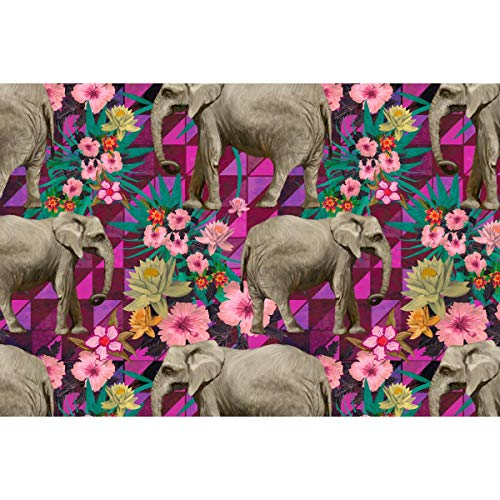 Image Elephant Wrap - Artzfolio Indian Elephants D6 Art & Craft Gift Wrapping Paper 18 X 12Inch;Set of 2 Pcs