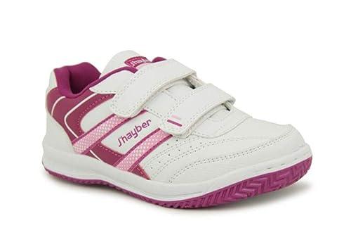 J-Hayber - Zapatillas de Material Sintético para Niña Blanco Bianco: Amazon.es: Zapatos y complementos