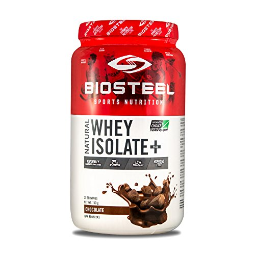 BioSteel Whey Protein Blend Powder Grass Fed with Whey Isolate, Whey Concentrate, Whey Hydrolysate, Chocolate, 750g