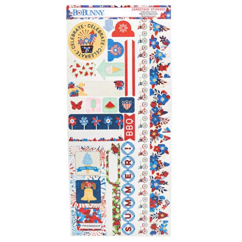 Bo Bunny 7310555 Cardstock Stickers, Multi