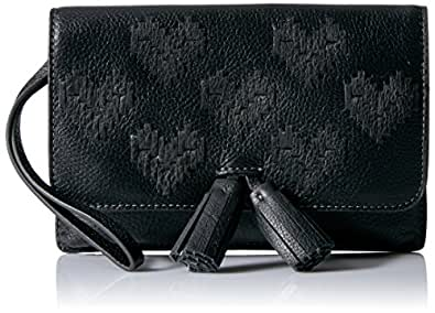 Fossil Amelia Flap Pouch Wallet, Black, One Size