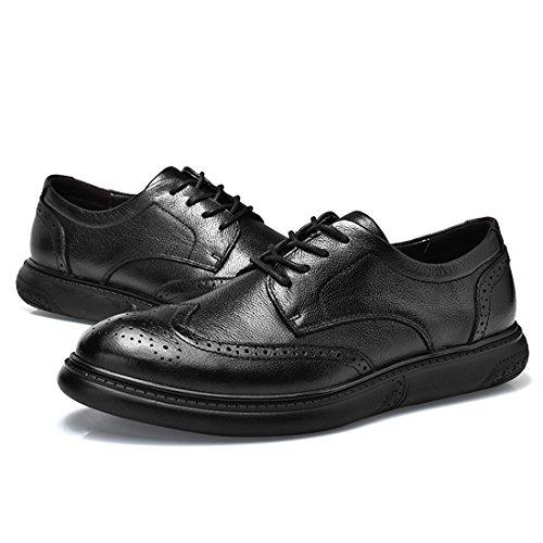 Miyoopark UK-XCR9009, Chaussures de Ville à Lacets pour Homme - Noir - Noir, 39 EU