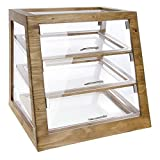 Cal-Mil 3432-S-99 Slanted Display Case, Self Serve, 21.5'' Height, 21'' Width, 21.5'' Length, Madera