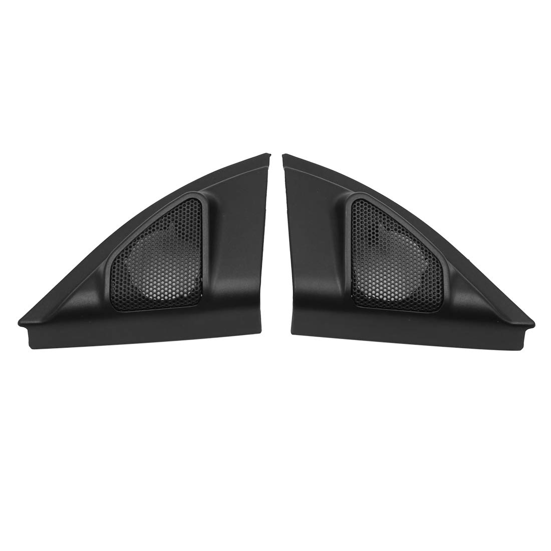 uxcell Pair Black Car Speaker Trim Cover Tweeter Protector for 2013-2017 Toyota Vios