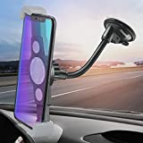 IPOW Super Wide Sight GPS Phone Mobile Holder for Car,See Entire Phone Screen in Different Angle,Suction Goose Arm Universal Car Dashboard/Window Phone Holder Fit iPhone X 8 8P 7 7P SE 6s 6 6P 5S