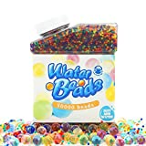 Water Beads Pack (50000 Beads) Rainbow Mix Jelly Water Growing Balls for Orbeez Spa Refill,Sensory Toys, Vases, Wedding and Home Decoration