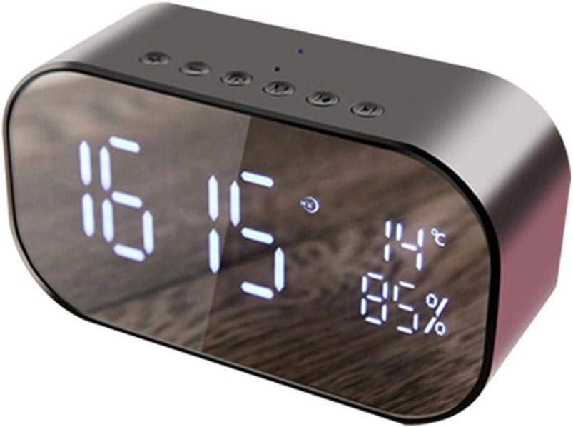 TUANTALL Despertador proyector Radio Despertador Los niños Reloj Despertador de Radio Digital Reloj led Amanecer Relojes de Alarma Reloj de Mesa Black