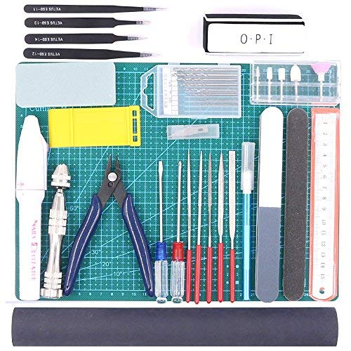 Rustark 36Pcs Modeler Basic Tools Craft Set Hobby Building Tools Kit For Gundam Car Model -