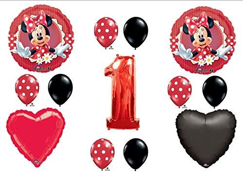 1 X M (Red Minnie Party Supplies)