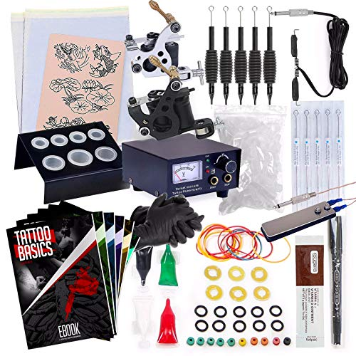 Rehab Ink Complete Tattoo Kit w/ 2 Machines, Power Supply, Needles, 4 Inks & More from Rehab Ink