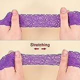 BENECREAT 18 Yards Lace Fabric Stretch Elastic 1.57