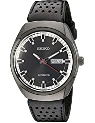 Seiko Mens SNKN45 Analog Display Automatic Self Wind Black Watch