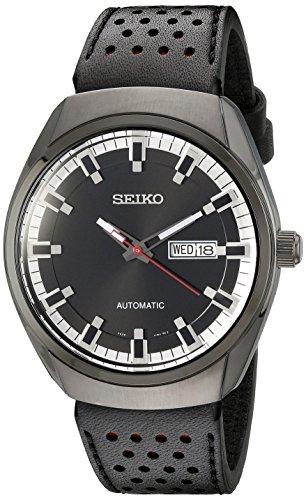 Seiko Men's SNKN45 Analog Display Automatic Self Wind Black Watch