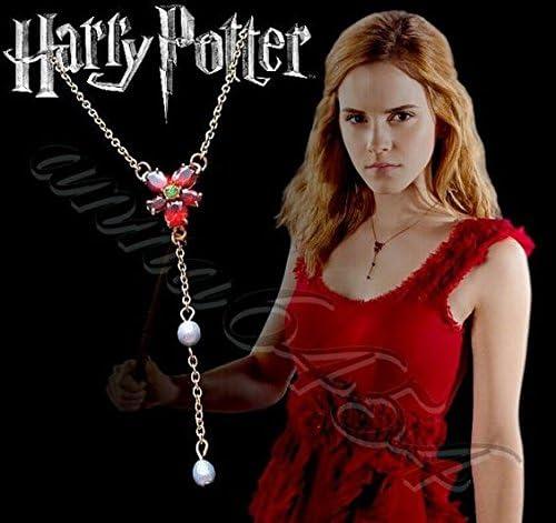 The Noble Collection Collar de Cristal Rojo de Hermione (Disfraz ...