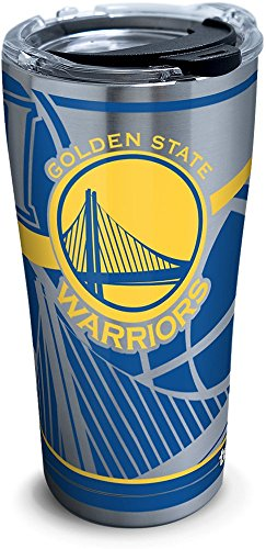 Tervis 1280920 NBA Golden State Warriors Paint Stainless Steel Tumbler, 30 oz, Silver