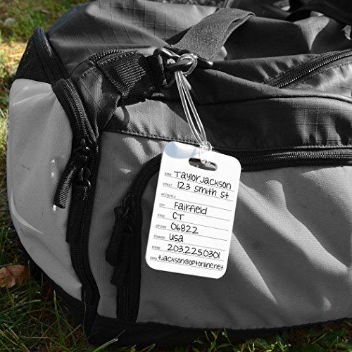 Football Luggage & Bag Tag   Personalized Football Team Helmet   Standard Lines on Back   MEDIUM   BLACK/YELLOW by ChalkTalkSPORTS (Image #5)
