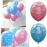 Baby Girl Boy 1st Birthday Balloon Balloons First Year Birthday Party Decoration