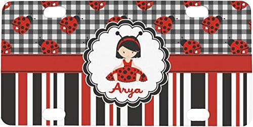 Ladybugs & Stripes Mini / Bicycle License Plate (Ladybug Personalized Mini)