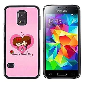 Paccase / SLIM PC / Aliminium Casa Carcasa Funda Case Cover - Love Cute Couple Heart - Samsung Galaxy S5 Mini, SM-G800, NOT S5 REGULAR!