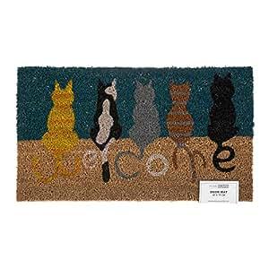 Homescapes Felpudo Natural Gatos Welcome
