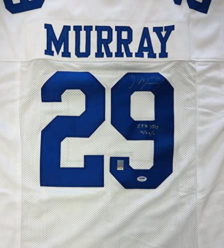 DALLAS COWBOYS DEMARCO MURRAY AUTOGRAPHED WHITE JERSEY