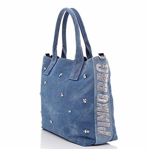 Donna Shopping Borsa Blu Cotone Pinko Borsa Pinko 1H20GKY4CQE89 twUTIRqR