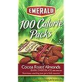 Emerald 84325 100 Calorie Pack Dark Chocolate Cocoa Roast Almonds- .63 oz Packs- 7 Packs/Box