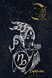 """Capricorn: Zodiac Horoscope Notebook Journal Diary 6"""" x 9"""" Wide Ruled Blank Line Paper 110 Pages"""