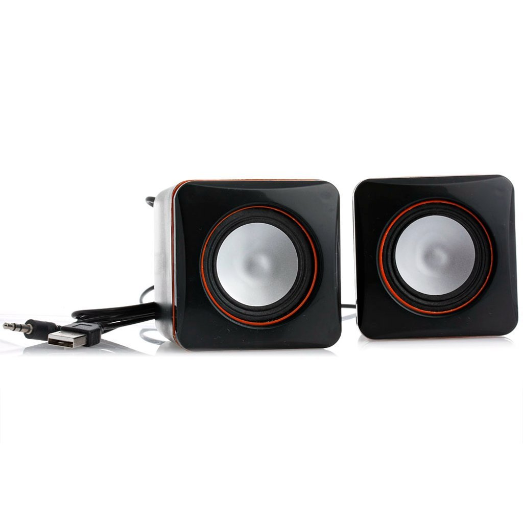 Fucung 1Pair Mini Portable USB Audio Player Wired Music Speaker for iPhone iPad Phone MP3 Laptop Desktop PC Computer FC-09