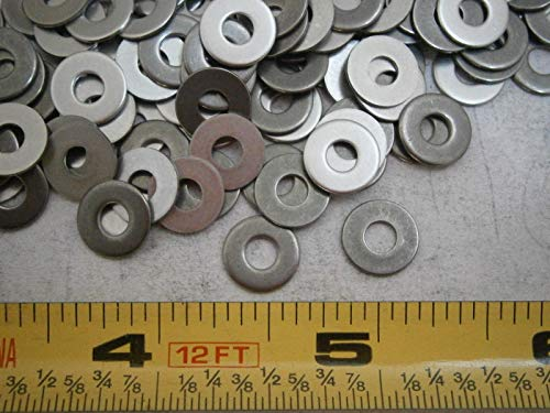Flat Washers .375'' OD x .146/.150'' ID x .032 Stainless Steel LOT of - 100#4078 - Quality Assurance from JumpingBolt