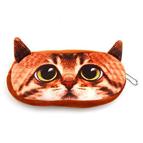 ULAKY-3D-Big-Cat-Face-Dog-Face-Coin-Change-Package-Carry-Bag-Cat-Face-Bag-Zipper-Case