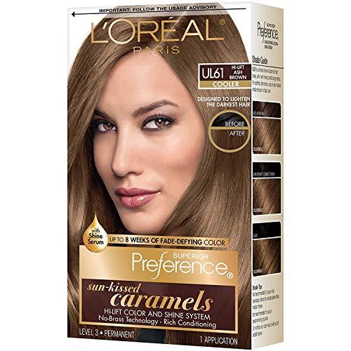 Pref Ult Ash Brwn Ul61 Size Ea L'Oreal Preference Ultra Lightening Hair Color Ultra Light Ash Brown #Ul61 (Best Hair Dye To Go Light Brown)