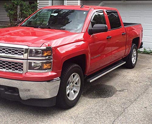 Lightronic Rain/ Deflector WV94536 Vent Visor Side Window Deflector 4-Piece Set for 2014-2018 Silverado /& Sierra 1500 2015-2018 Silverado /& Sierra 2500HD-3500HD with Crew Cab