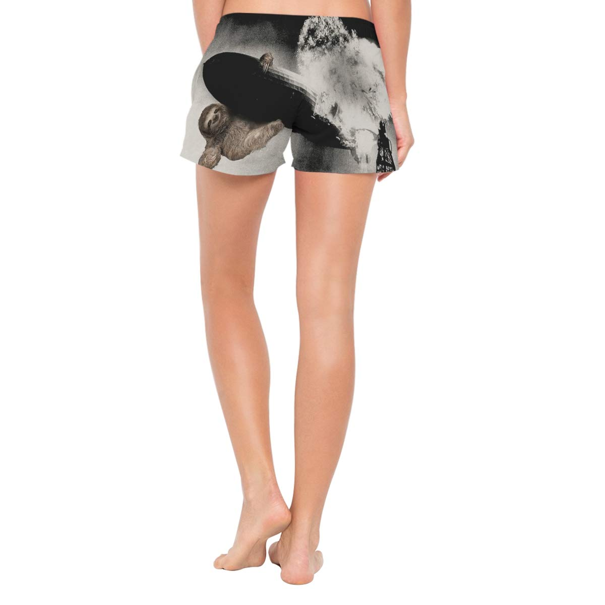 Lttedeng Womens Swim Trunks Quick Dry Beach Shorts with Mesh Lining Sloth Sinking Hindenburg