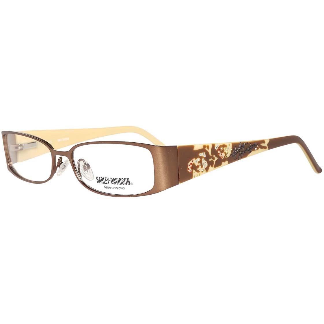 Harley Davidson Damen Brillengestelle Brille E-HDV-388-BRN, Braun, 54