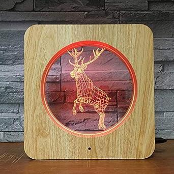 Deer Jumping Animal Style 3D LED ABS Plástico Luz de noche DIY ...
