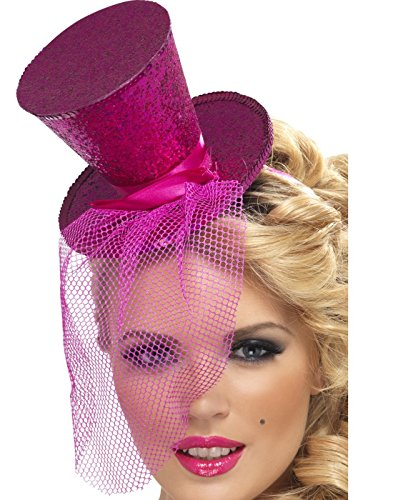 [Fever Women's Mini Pink Top Hat] (Pink Top Hats)