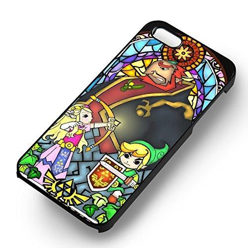 Zelda et Link pour Coque Iphone 6 et Coque Iphone 6s Case (Noir Boîtier en plastique dur) F2B2DM