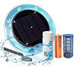 Original Solar Pool Ionizer | 85% Less Chlorine | Lifetime Replacement Warranty | Kill Algae in Pool | High efficiency | Keeps Pool Cleaner and Crystal Clear | Pool Clarifier | Up To 35,000 Gal Pool