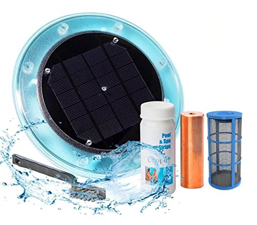 (Original Solar Pool Ionizer | 85% Less Chlorine | Lifetime Replacement Warranty | Kill Algae in Pool | High efficiency | Keeps Pool Cleaner and Crystal Clear | Pool Clarifier | Up To 35,000 Gal Pool)
