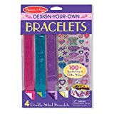Toys : Melissa & Doug Design-Your-Own Bracelets With 100+ Sparkle Gem and Glitter Stickers