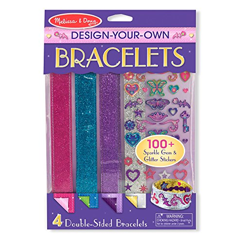 25 Creative Jewelry - Melissa & Doug Design-Your-Own Bracelets With 100+ Sparkle Gem and Glitter Stickers