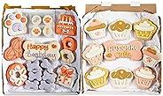 Wüfers Dog Birthday Girl Dog Cookie Box Party Bundle   Handmade Hand-Decorated Dog Treats   Dog Gift Box Made