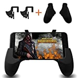 Mobile Game Controller , Smiler+ Sensitive Shoot and Aim Keys L1R1 and Gamepad for PUBG/Fortnite/Rules of Survival, Mobile Gaming Joysticks for Android IOS(1 Pair+1 Gamepad)