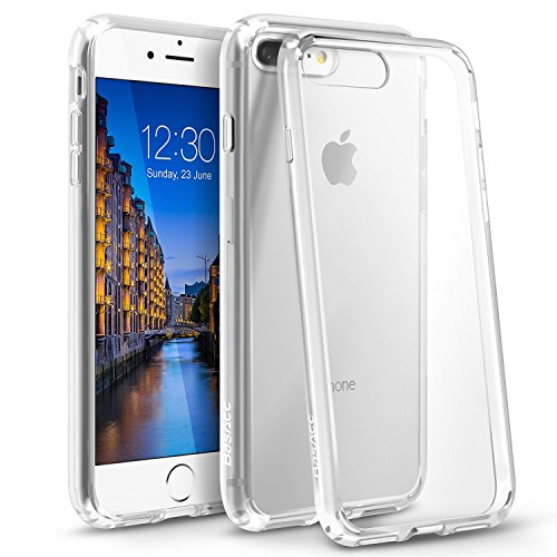 iPhone 8 Plus/7 Plus Case, BasAcc [Crystal Clear] Ultra Slim Hybrid Case With [Anti-Shock Protection] TPU Bumper,[Non Slip] Hard Back Panel Case Cover For Apple iPhone 8 Plus/7 Plus, Clear Anti Shock Protection